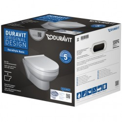 Pack WC suspendu Compact Duravit Rimless® 457509